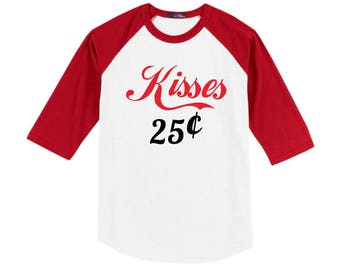 Valentine Shirt - First Valentine's Day - Kisses - Baby Valentines - Love Shirt - Heart - Baby Boy - Baby Girl - Valentines Day - Shirt -