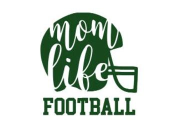 Car Decal - Mom Life - Football Decal - Football Sticker - Mom Life Sticker - Sport Decal - Sports Sticker