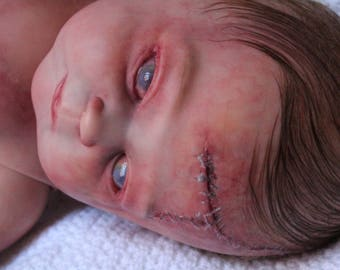 """20""""  Soft Silicone Vinyl Zombie Realistic Reborn OOAK Baby Doll (FREE SHIPPING)"""