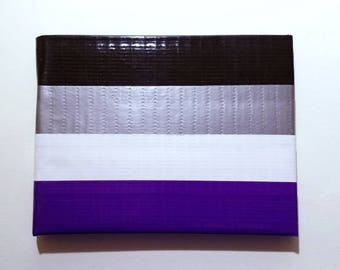 Ace Pride Flag Duct Tape Wallet