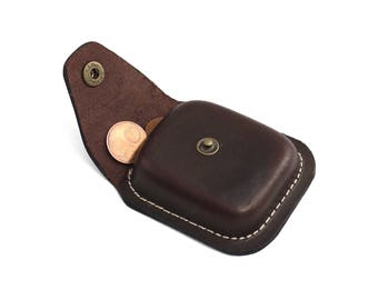 Leather Coin Pouch Coin Holder Coin Organiser Leather Coin Purse Size B