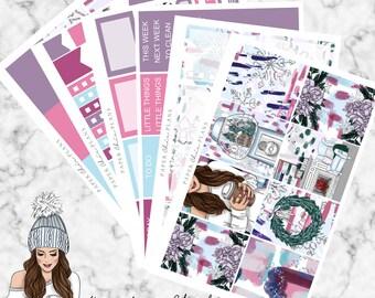 Winter Chill | Planner Sticker Kit MATTE | Erin Condren Vertical Weekly Planner Kit