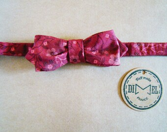 Bow tie adjustable Burgundy pointy or classic to order