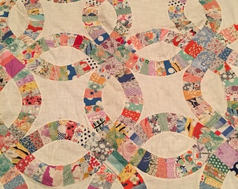 Vintage Wedding Ring Quilt Top #2