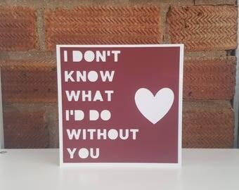 Valentine card, Anniversary card, Wedding day card, Paper cut valentine, Love you card, Card for boyfriend, Girlfriend, Husband, Wife