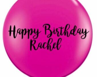Giant pink Balloon, confetti balloon, rustic wedding, jumbo balloon,  baby shower balloons, giant round balloon,  custom jumbo balloon, BIG