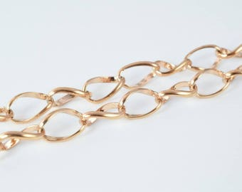 """18K Pinky Gold Filled Chain 23"""" Inch CG42"""