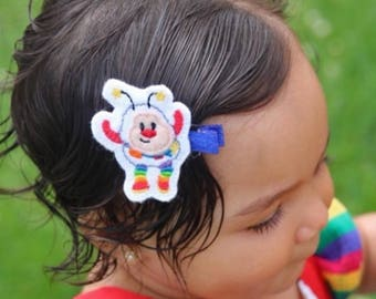 rainbow brite, rainbow brite hair clips, rainbow brite accessories, rainbow brite sprite, sprite hair clips, rainbow hair clips, rainbows