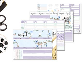 APRIL - Monthly Pages - Erin Condren Life Planner