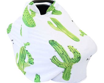 Prickly Cactus | Cactus Super Soft Everything Cover | Stretchy Nursing Cover | Car Seat Canopy Cover