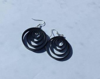 Spiral tube earrings