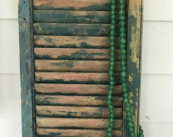 Green African Recycled Glass Home Decor Beads