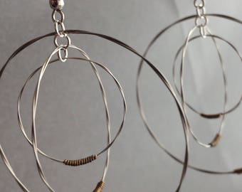 Guitar String Triple Hoop Earrings