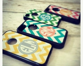 SALE Defender or Commuter Otterbox® Personalized Phone Cases - iPhone 7, iPhone 6 Plus, Galaxy - Custom Monogram Cell Phone Device Case