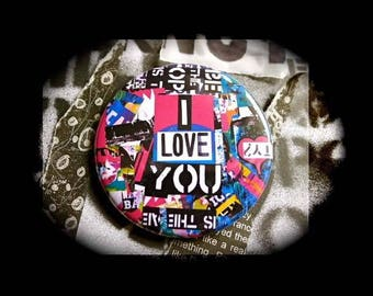 Bottle opener key 56 mms 'I Love You'