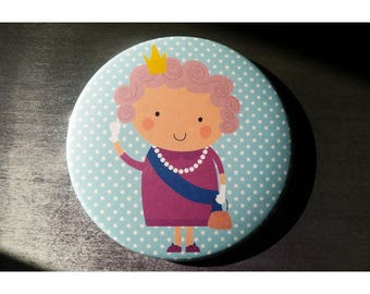 Pocket mirror 88 mms 'The Queen' / comes with pouch