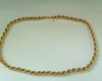 Monet rope necklace