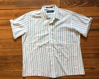Vintage 70's Striped Button Up