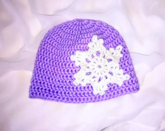 Snowflake Baby Hat