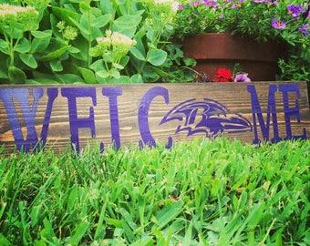Baltimore Ravens Welcome Football Sign Dallas Cowboys Washington