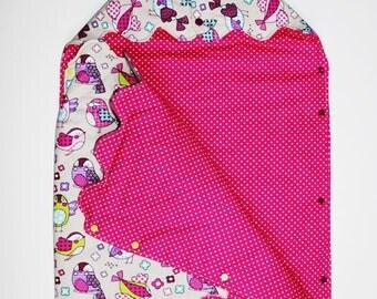 "Cotton/fleece patterns ""Cheep-cheep"" baby Bunting"