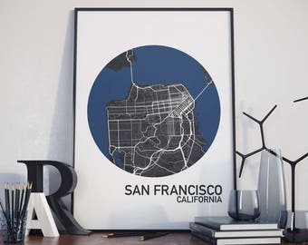 San Francisco, California City Map Print