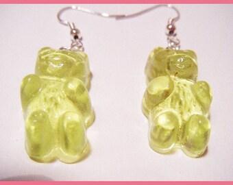 ♥ Earrings bears Teddy bear resin ♥
