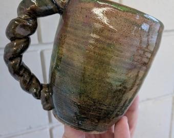 Handmade ceramic coffee mug, Made in Maine