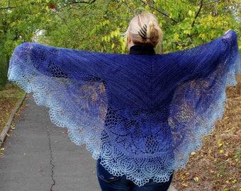Hand knit shawl, Wedding shawl, Knit wrap, Boho shawl, Lace wool shawl, delicate shawl,knitted shawl,wool shawl, shawl wrap,gift for mom