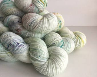 Sock Hand Dyed Australian 80/20 Merino Nylon Revelry Sock 4 ply fingering knitting yarn Confetti