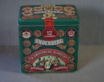 Green tin can for 12 bottles of UNDERBERG