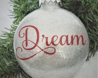 Dream Christmas Ornament-Dream Ornament-Holiday Ornament-Christmas Ornament-Christmas Gift-Dream-Dream Catcher-Christmas Tree-Ornaments