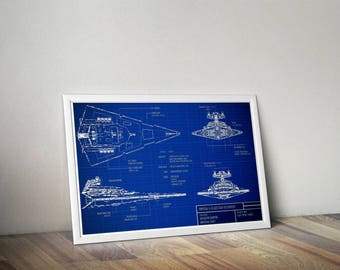 Star Wars inspired blueprints poster