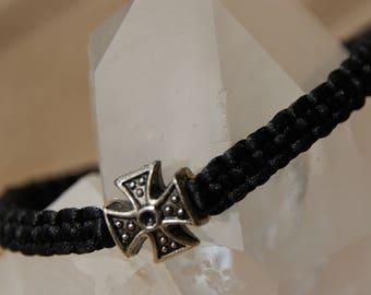 shamballa bracelet with Pearl cross of Malta