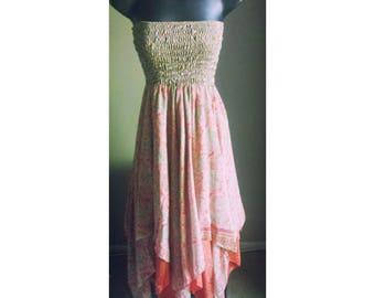 Tube Top Handkerchief dress