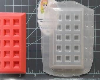 Medium Waffle Plastic Mold, food mold, bath bomb mold, soap mold, breakfast mold, waffle mold, resin mold, wax mold, bath bomb mould,