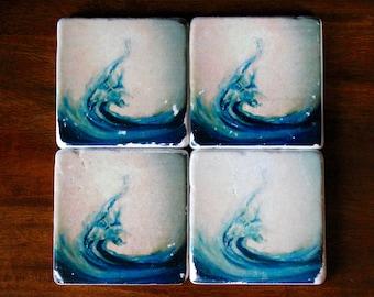 Wave Coaster - set of 4