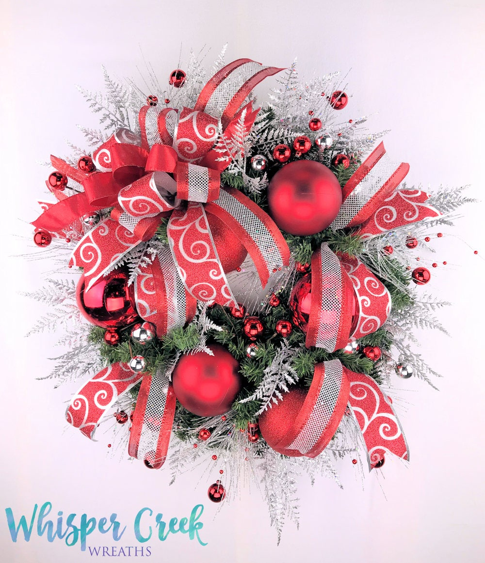 Front door christmas wreaths - Christmas Front Door Wreath Holiday Wreath Red Christmas Wreath Christmas Wreath For Front Door Christmas Decoration