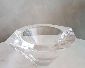"ORREFORS ""MARIN"" Crystal Bowl designed by Jan Johansson."