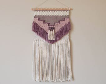 Pink // Mauve Woven Wall Hanging