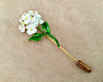 Floral Bouquet Enamel Stick Pin