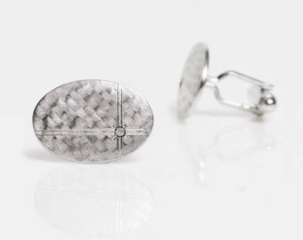 vintage Anson cufflinks shimmering silver mens jewelry