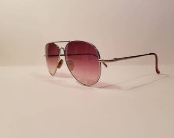 Vintage 80's Smokey Fade Aviator Sunglasses