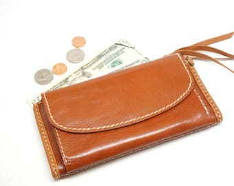 women leather wallet, leather wallet clutch, leather wallet with coin pouch, billfold wallet, card holder wallet, Phone wallet