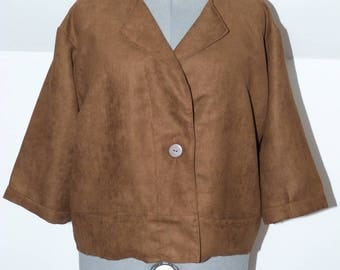 Light brown t.44/46 suede jacket