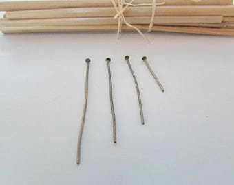 4 x 25 nails bronze flat head for jewelry - 3.5 - 2 cm - 4.5-4 89.4