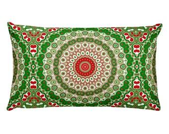 Rectangle Christmas Pillow, Festive Home Decor, 20x12 Holiday Lumbar Pillows