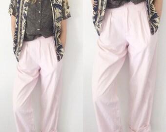 Vintage High Waisted Linen Pants