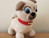 Rolly - Soft Toys. Amigurumi Pattern PDF, Puppy Dog Pals, Puppy Doll, Pug, Pugster, Nursery Crochet, Kids Gift, Dog Toy, DIY Digital File