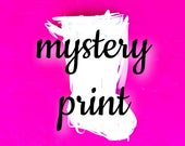 Mystery Print Christmas Stocking   ready to ship